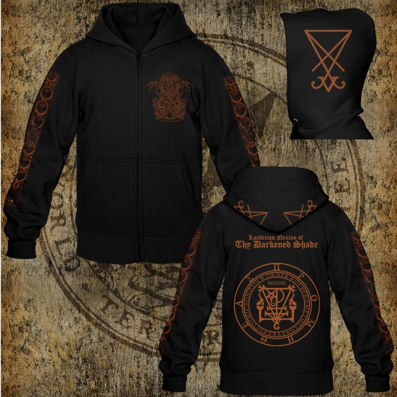 Thy Darkened Shade - Liber Lvcifer I - Hooded Zipper