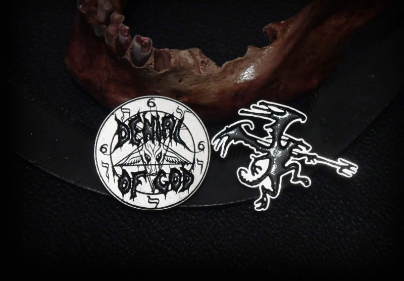 Denial of God - Logo - Metal-PIN