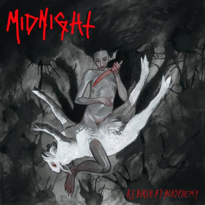 Midnight - Rebirth by Blasphemy - LP (Grey Marbled Vinyl)