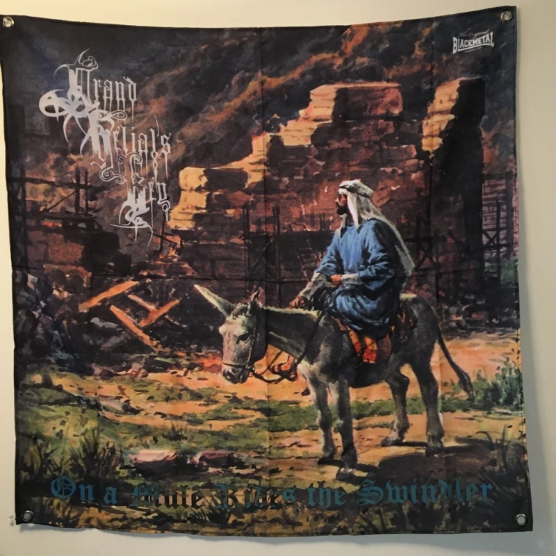 Grand Belials Key - On A Mule Rides A Swindler - Banner