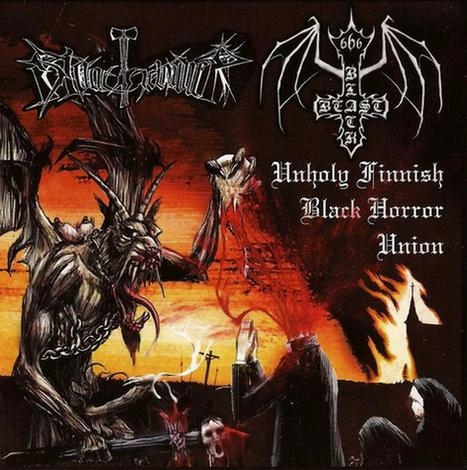 Black Beast / Bloodhammer - Unholy Finnish Black Horror Union - Split LP