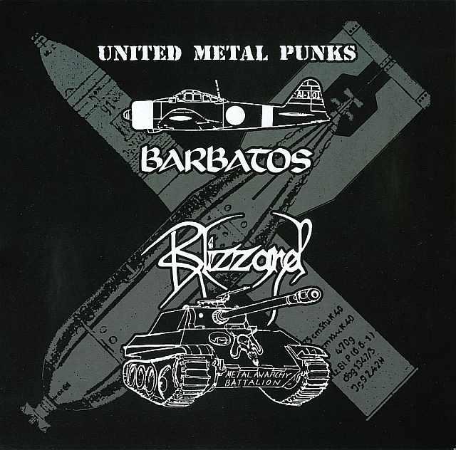 Barbatos / Blizzard - United Metal Punks - Split 10MLP