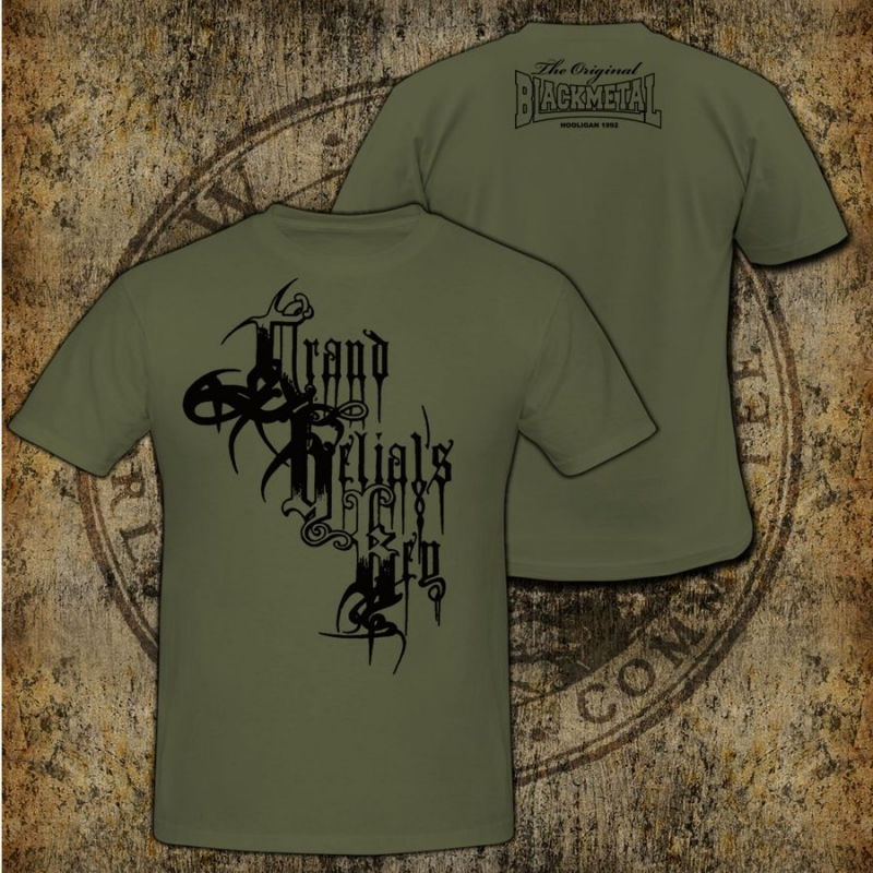 Grand Belials Key - Black Logo - T-Shirt (Green)