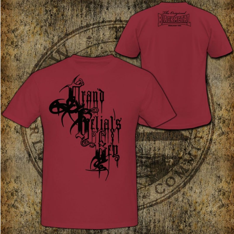 Grand Belials Key - Black Logo - T-Shirt (Red T-Shirt)