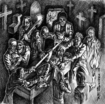 Graveyard / Deathevokation - Split EP